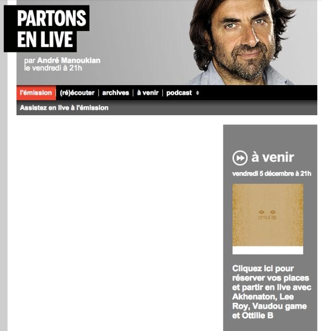 PartonEnLive_FranceInter_Ottilie_Dec2014